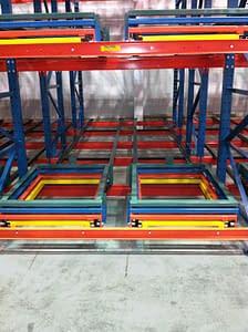 push back pallet rack